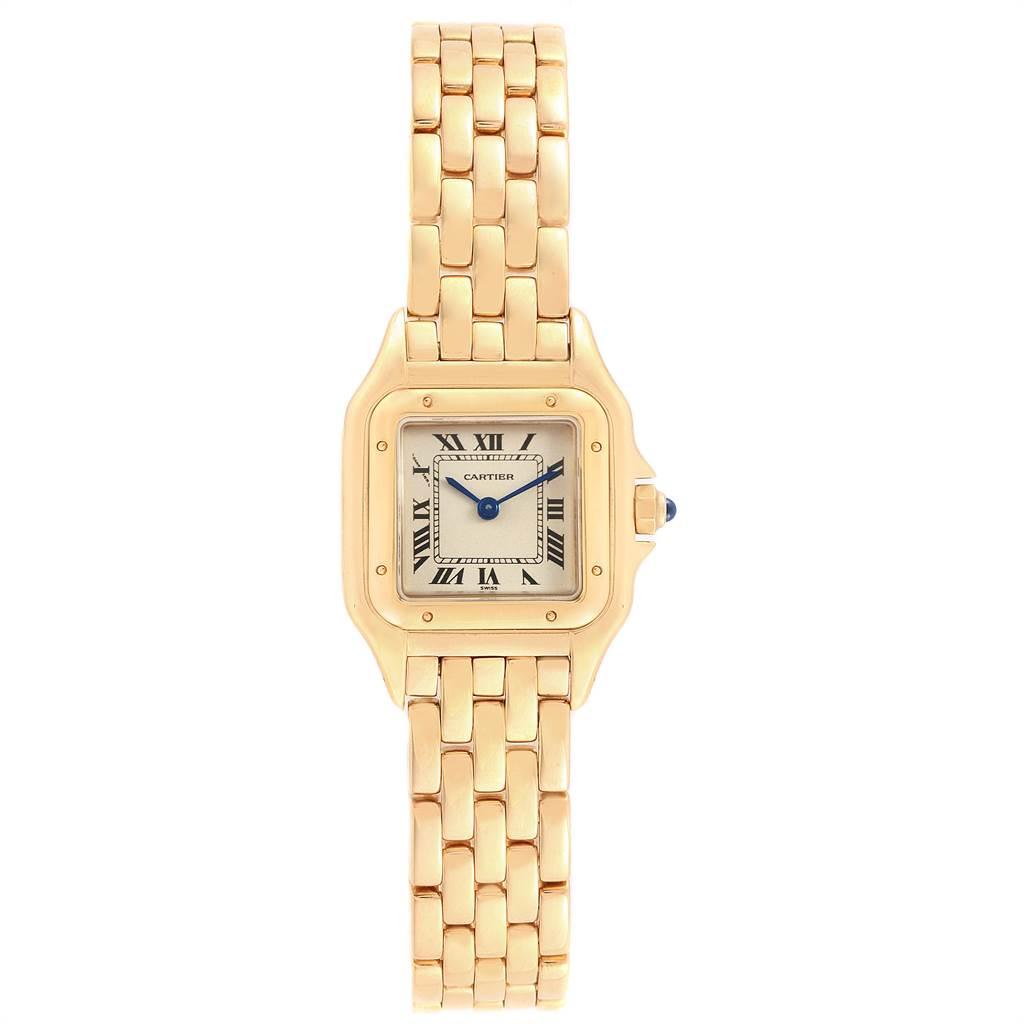 21924 Cartier Panthere 18k Yellow Gold Ladies Watch W25022B9 SwissWatchExpo