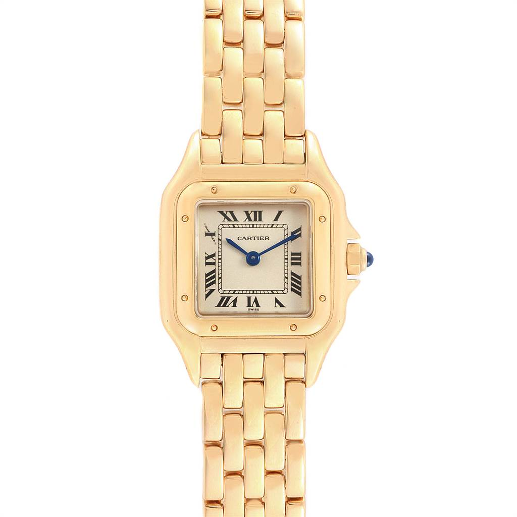 Cartier Panthere 18k Yellow Gold Ladies Watch W25022b9 Swisswatchexpo