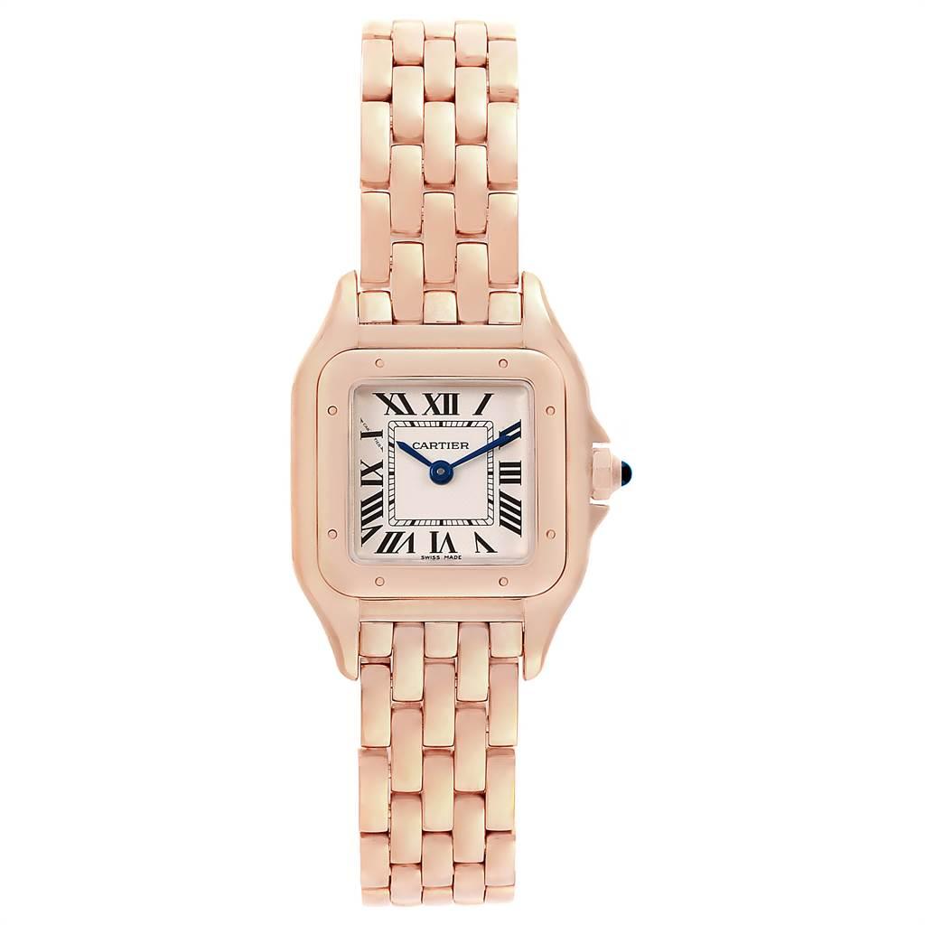 Cartier Panthere 18k Rose Gold Small Ladies Watch WGPN0006 Unworn SwissWatchExpo