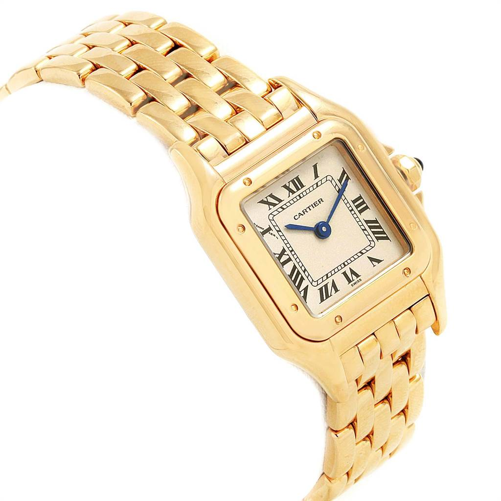 22302 Cartier Panthere 18k Yellow Gold Ladies Watch W25022B9 SwissWatchExpo