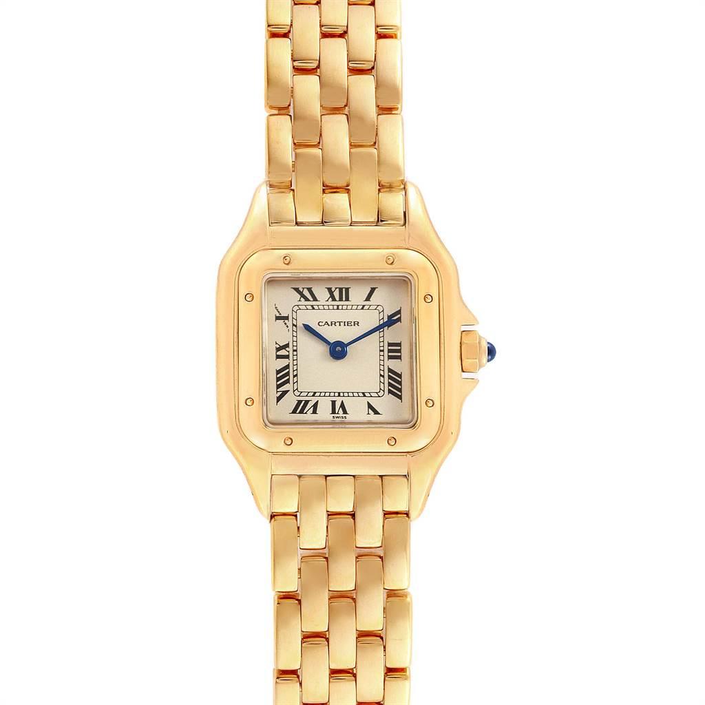 Cartier Panthere 18k Yellow Gold Ladies Watch W25022B9 SwissWatchExpo