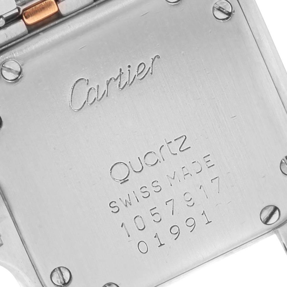 21145 Cartier Panthere Steel Yellow Gold 2 Row Ladies Watch W25029B6 Box SwissWatchExpo