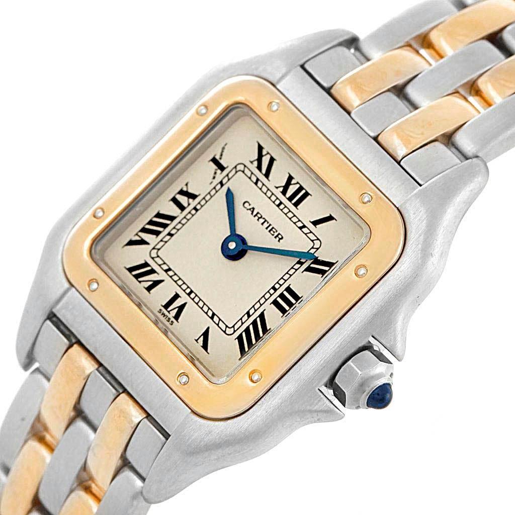 Cartier Panthere Steel Yellow Gold 2 Row Ladies Watch W25029B6 Box SwissWatchExpo