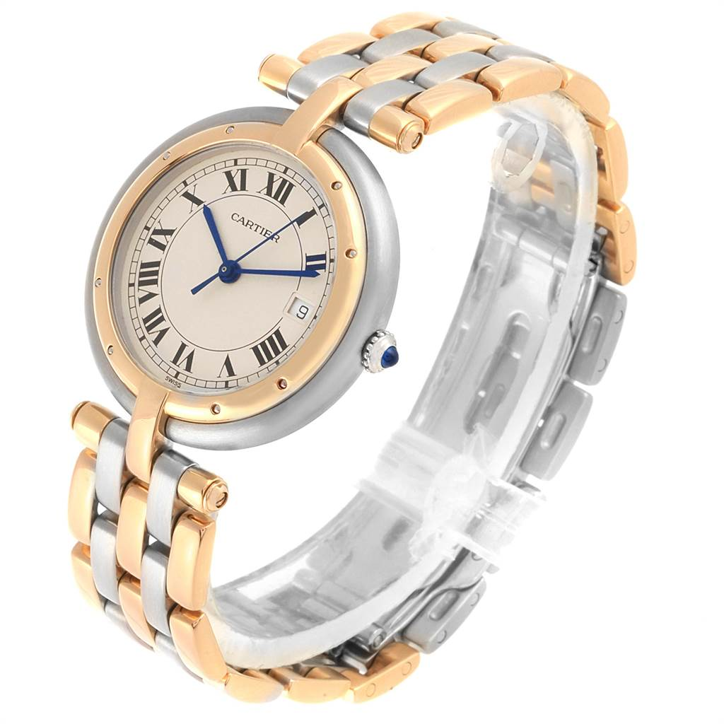 Cartier Panthere Vendome Three Row Steel Yellow Gold Ladies Watch 183984 SwissWatchExpo