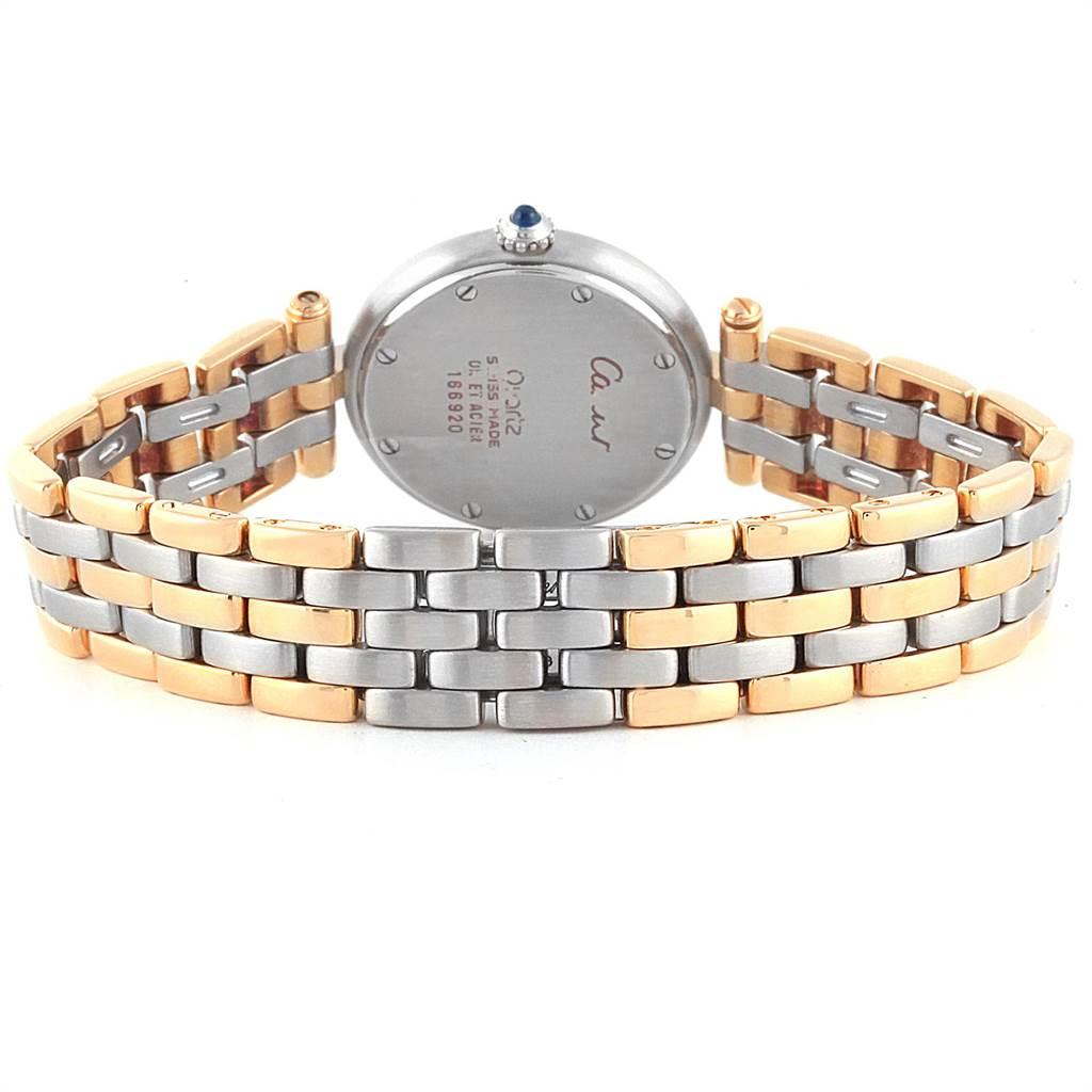 21951 Cartier Panthere Vendome Three Row Steel Yellow Gold Ladies Watch 166920 SwissWatchExpo