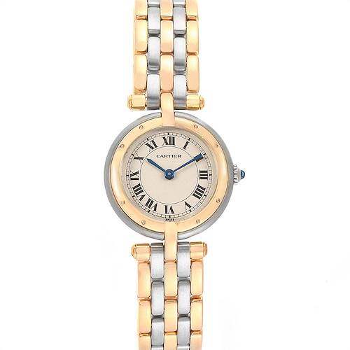 Photo of Cartier Panthere Vendome Three Row Steel Yellow Gold Ladies Watch 166920