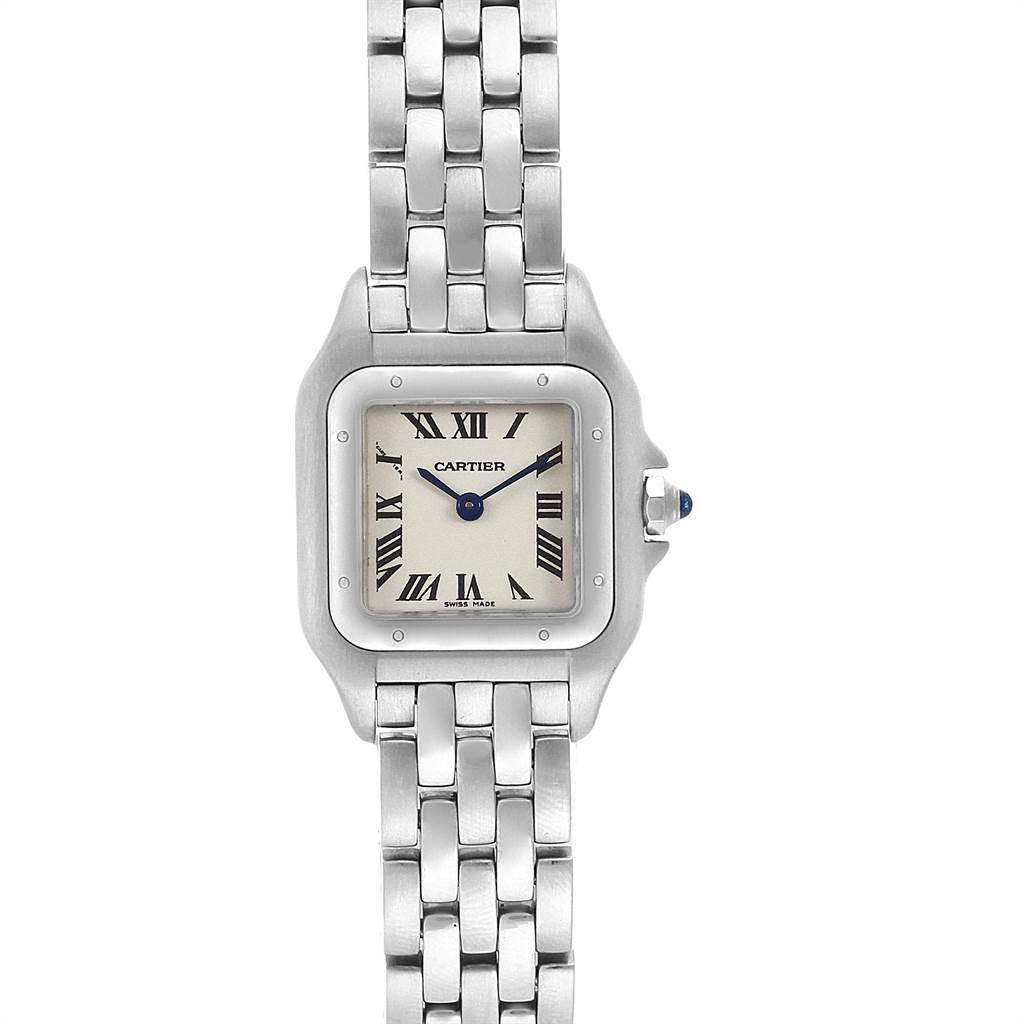 22470 Cartier Panthere Ladies Small Stainless Steel Watch W25033P5 SwissWatchExpo