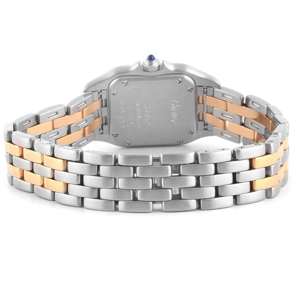 21146 Cartier Panthere Steel Yellow Gold 2 Row Quartz Ladies Watch W25029B6 SwissWatchExpo