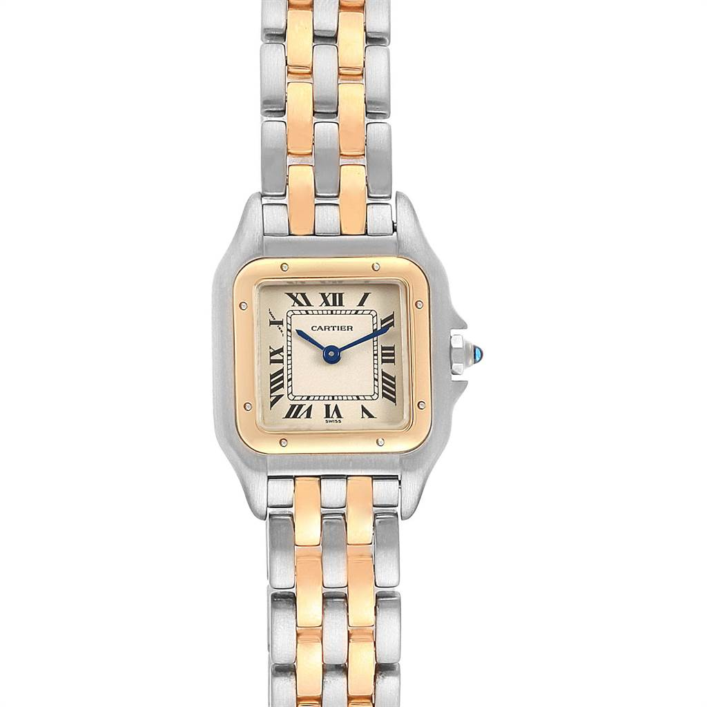Cartier Panthere Steel Yellow Gold 2 Row Quartz Ladies Watch W25029B6 SwissWatchExpo
