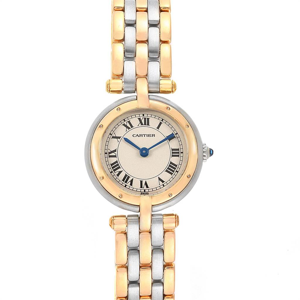21246 Cartier Panthere Vendome Small 3-Row Steel Yellow Gold Ladies Watch SwissWatchExpo