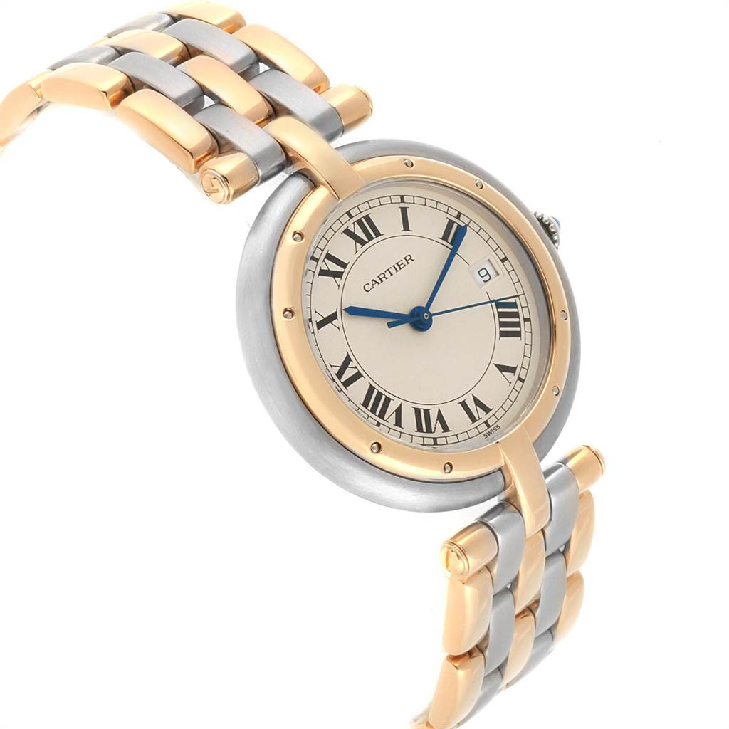 Cartier Panthere Vendome Midsize Steel Yellow Gold Ladies Watch 183964 SwissWatchExpo