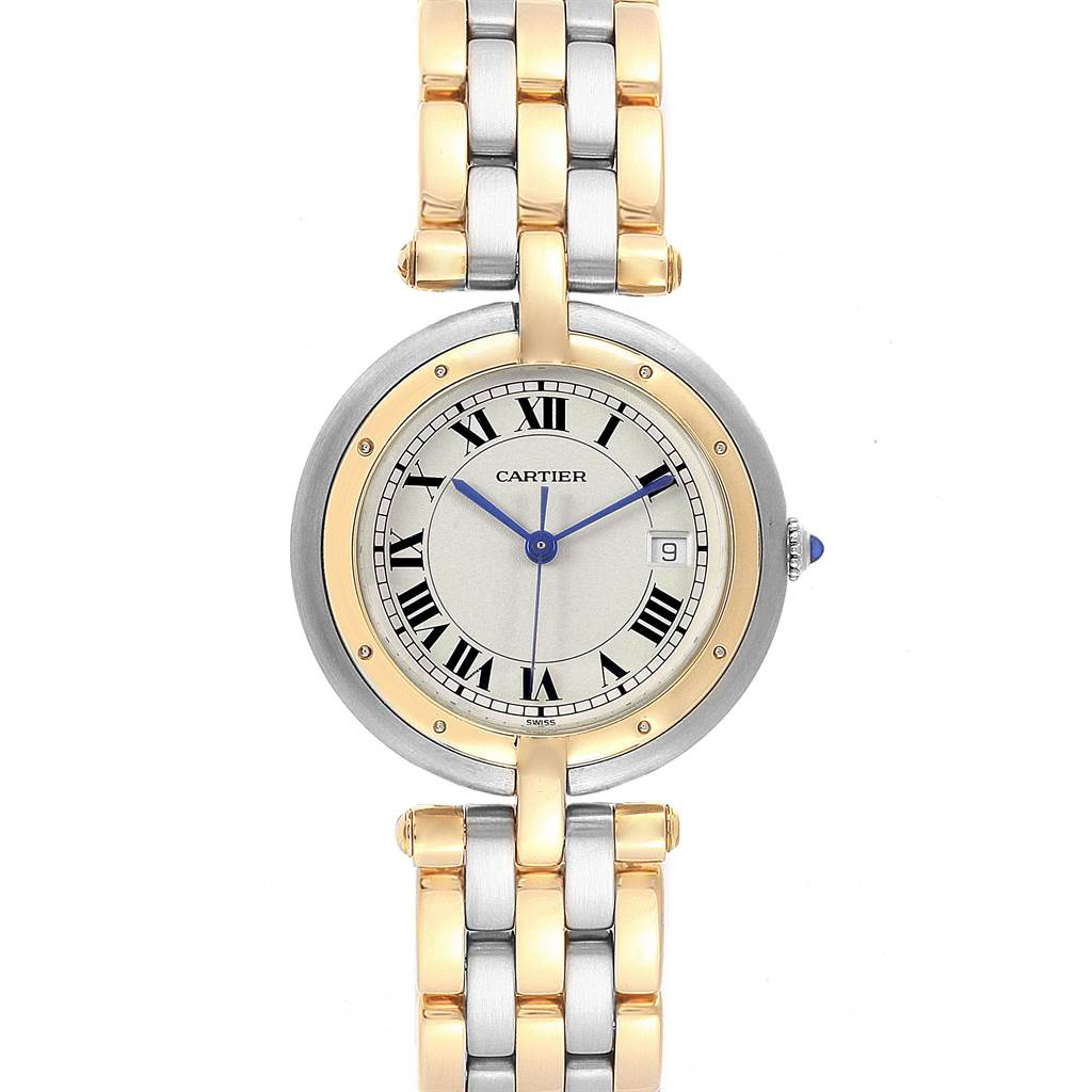 21950 Cartier Panthere Vendome Midsize Steel Yellow Gold Ladies Watch 183964 SwissWatchExpo
