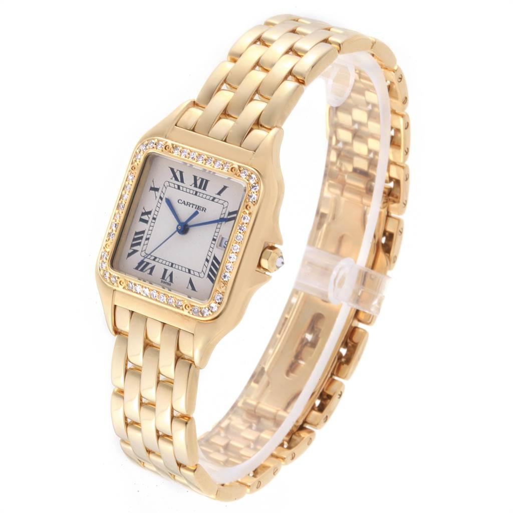 22896 Cartier Panthere XL 18K Yellow Gold Diamond Unisex Watch W25014B9 SwissWatchExpo