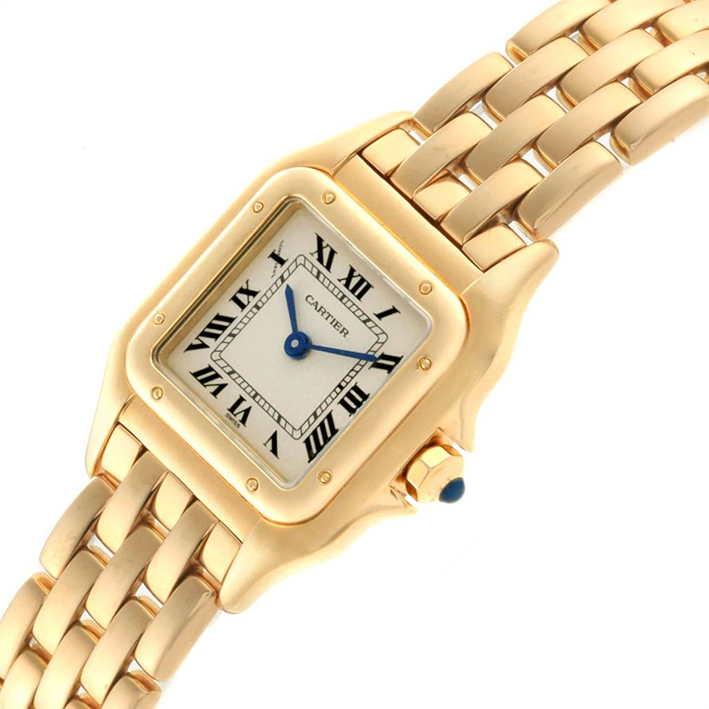 22863 Cartier Panthere Small Yellow Gold Silver Dial Ladies Watch W25022B9 SwissWatchExpo