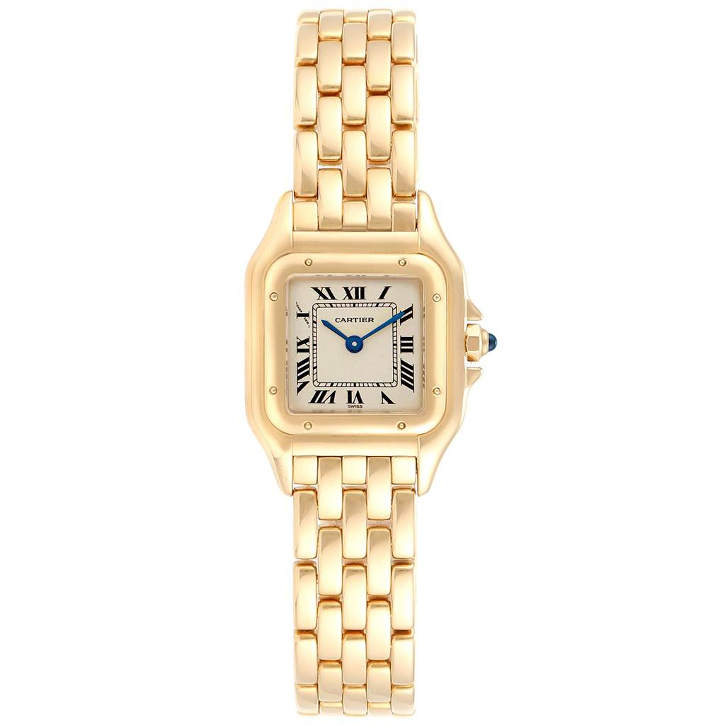 23511 Cartier Panthere Small Yellow Gold Silver Dial Ladies Watch W25022B9 SwissWatchExpo