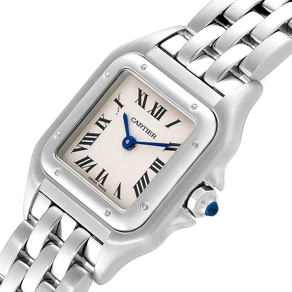 1492X Cartier Panthere Ladies Small Stainless Steel Watch W25033P5 SwissWatchExpo
