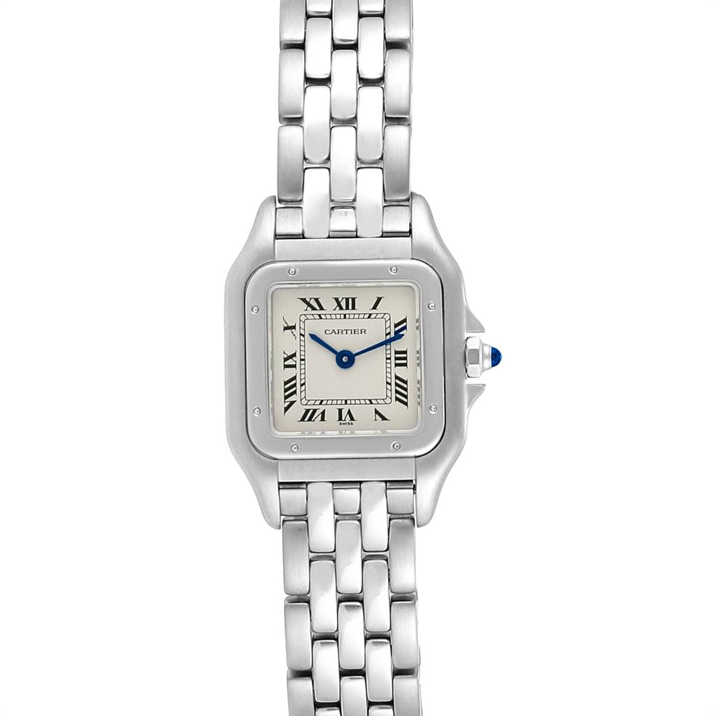 23877 Cartier Panthere Ladies Small Stainless Steel Watch W25033P5 SwissWatchExpo