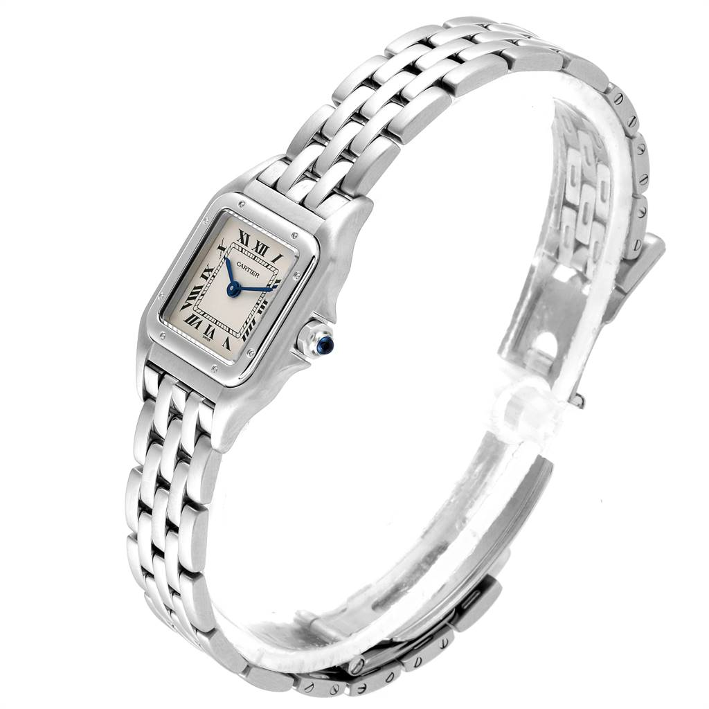 Cartier Panthere Ladies Small Stainless Steel Watch W25033P5 SwissWatchExpo