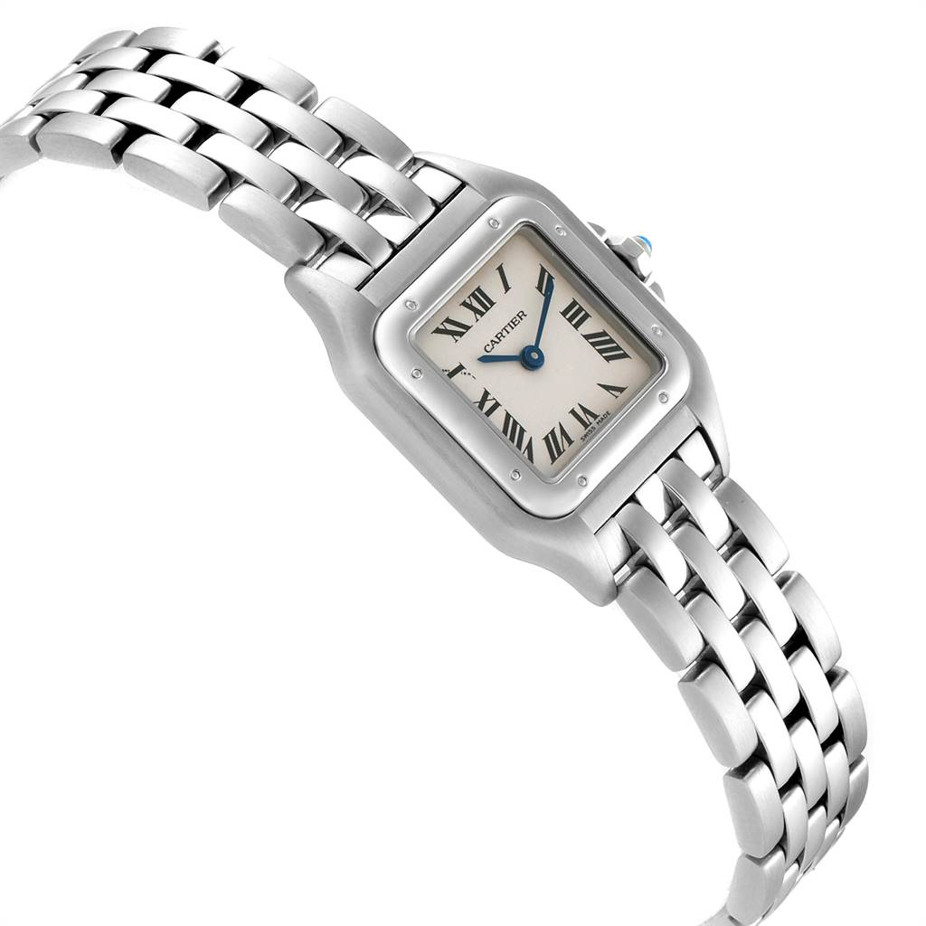 24227 Cartier Panthere Ladies Small Stainless Steel Watch W25033P5 SwissWatchExpo