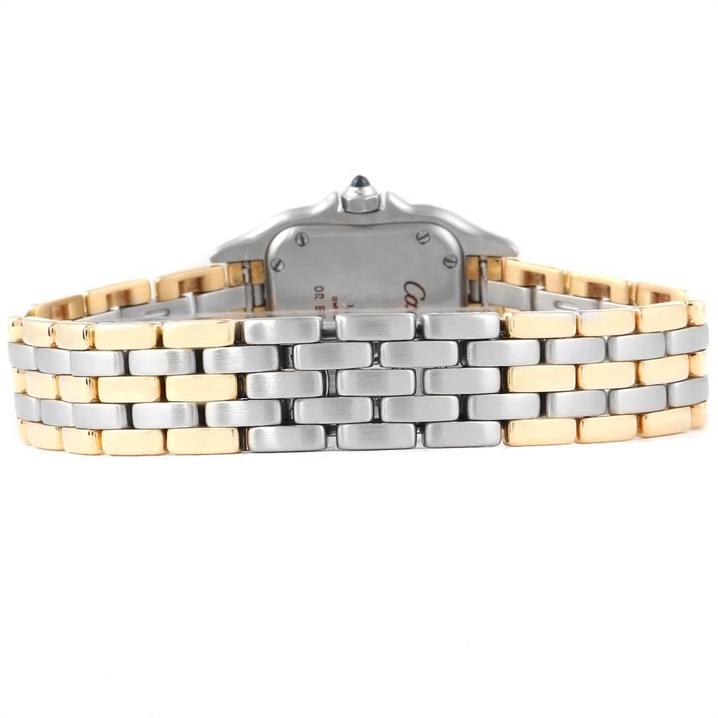 24472 Cartier Panthere Ladies Steel Yellow Gold 3 Row Ladies Watch W25029B6 SwissWatchExpo