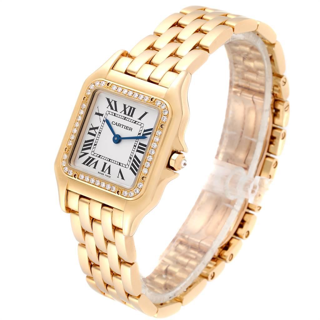 Cartier Panthere Midsize Yellow Gold Diamond Ladies Watch WJPN0016 SwissWatchExpo