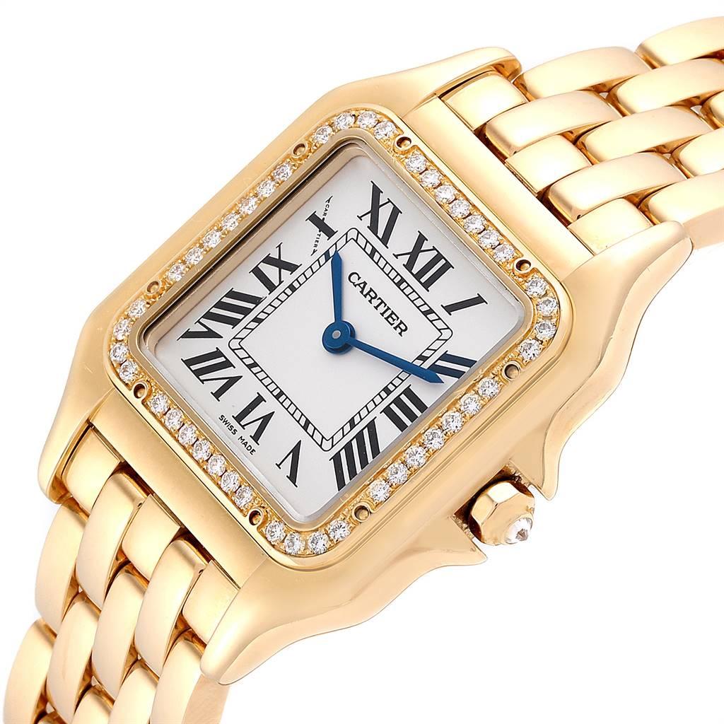 25054 Cartier Panthere Midsize Yellow Gold Diamond Ladies Watch WJPN0016 SwissWatchExpo