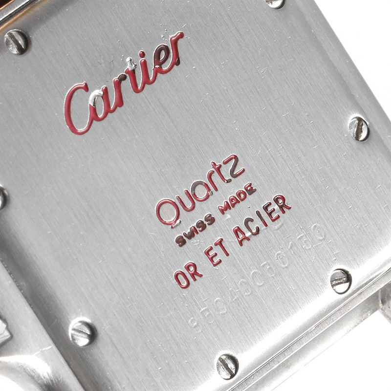Cartier Panthere Large Steel Yellow Gold Two Row Mens Watch W25028B8 Partial Payment SwissWatchExpo