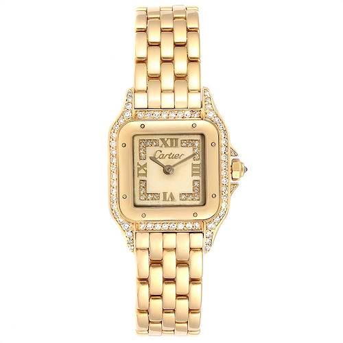 Photo of Cartier Panthere 18k Yellow Gold Diamonds Ladies Watch WF3072B9