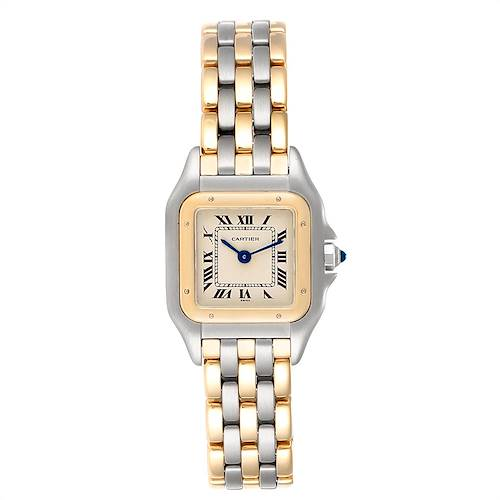 Photo of Cartier Panthere Ladies Steel Yellow Gold 3 Row Ladies Watch W25029B6