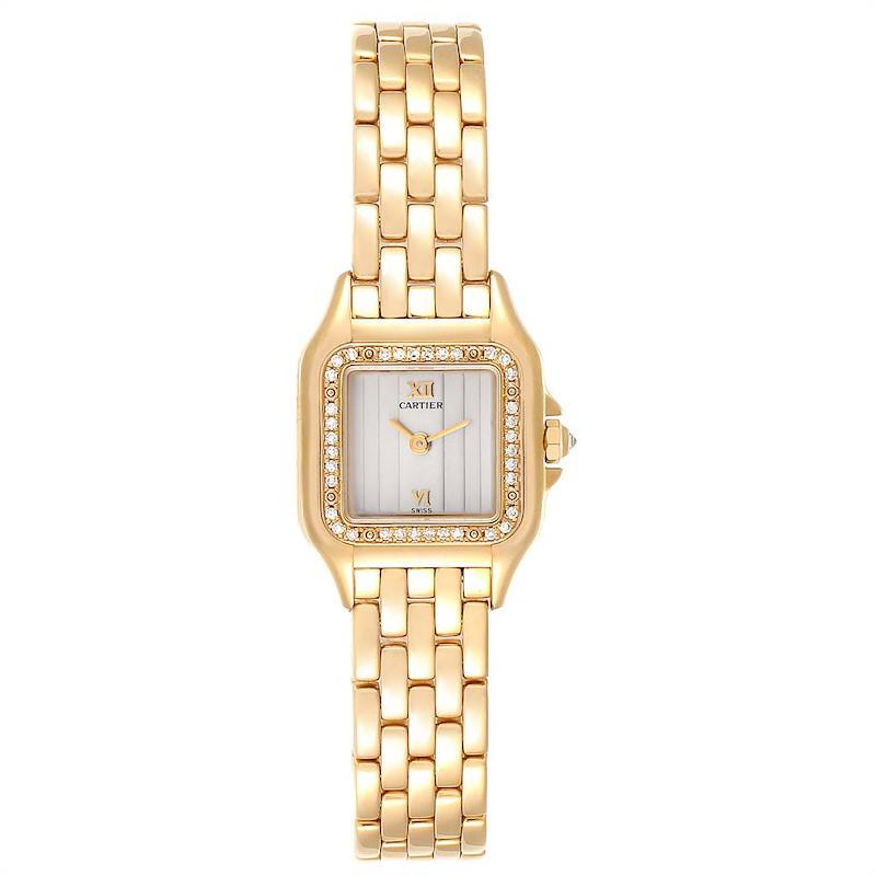 Cartier Panthere Yellow Gold Diamond Ladies Watch WF3070B9 SwissWatchExpo