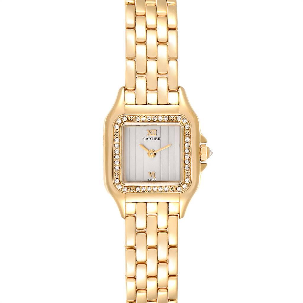Cartier Panthere Yellow Gold Diamond Ladies Watch WF3070B9