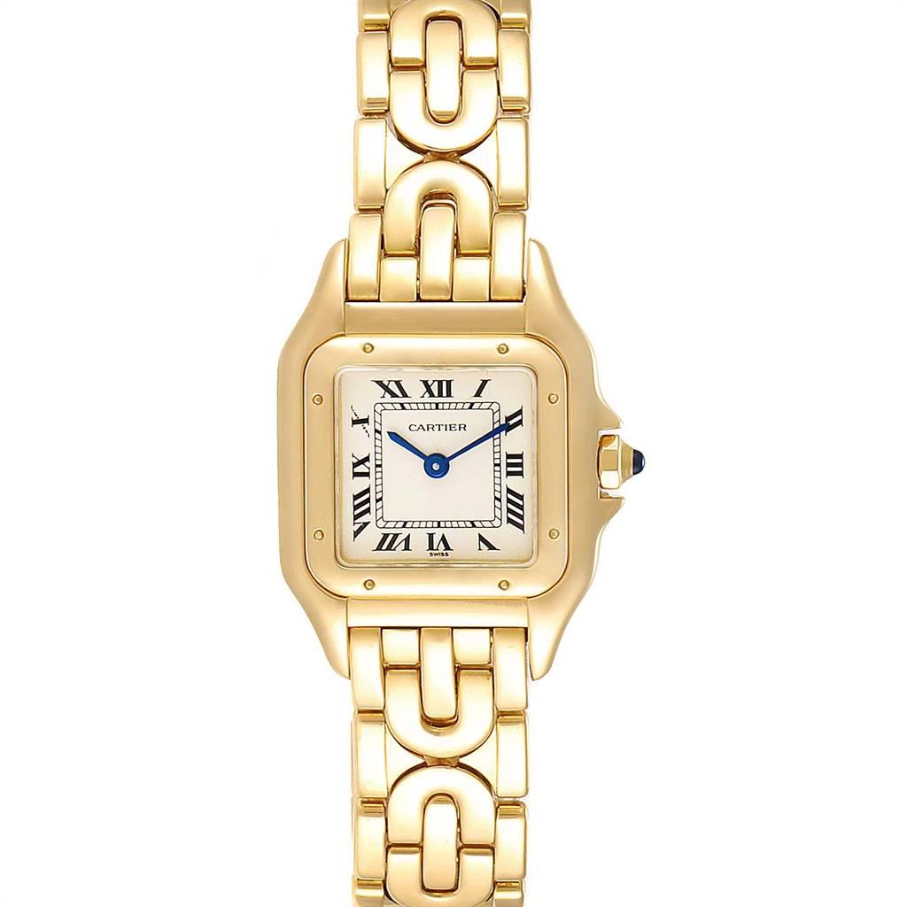 Cartier Panthere 18k Yellow Gold Art Deco Bracelet Ladies Watch 107000