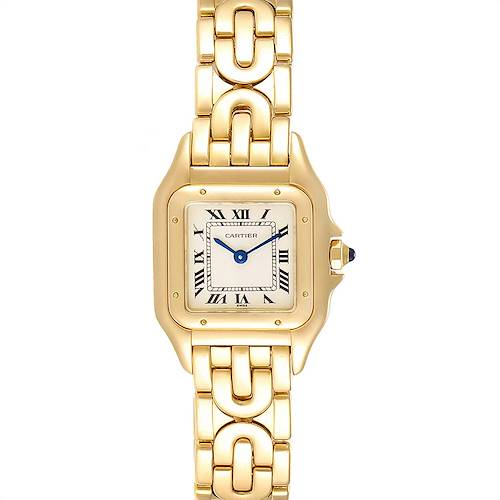 Photo of Cartier Panthere 18k Yellow Gold Art Deco Bracelet Ladies Watch 107000