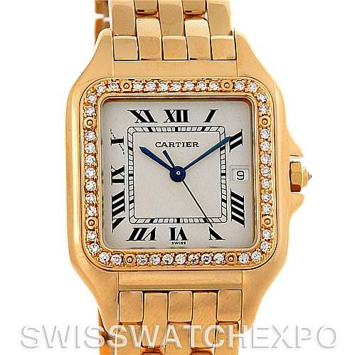 3071 Cartier Panthere X-Large 18K Yellow Gold Diamond Watch SwissWatchExpo