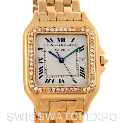 Photo of Cartier Panthere X-Large 18K Yellow Gold Diamond Watch W25014B9
