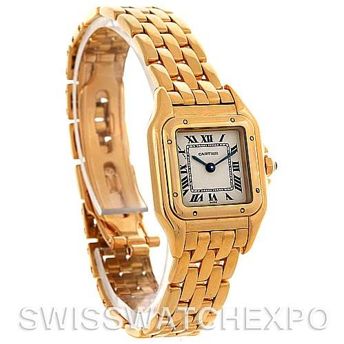 3051 Cartier Panthere Ladies 18k Yellow Gold Watch W25022B9 SwissWatchExpo