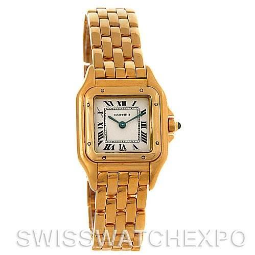 3051 Cartier Panthere Ladies 18k Yellow Gold Watch W25022B9 SwissWatchExpo