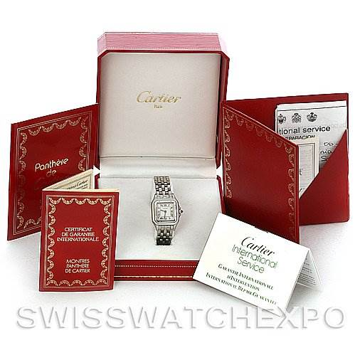 3087 Cartier Panthere Ladies Small Stainless Steel Watch SwissWatchExpo