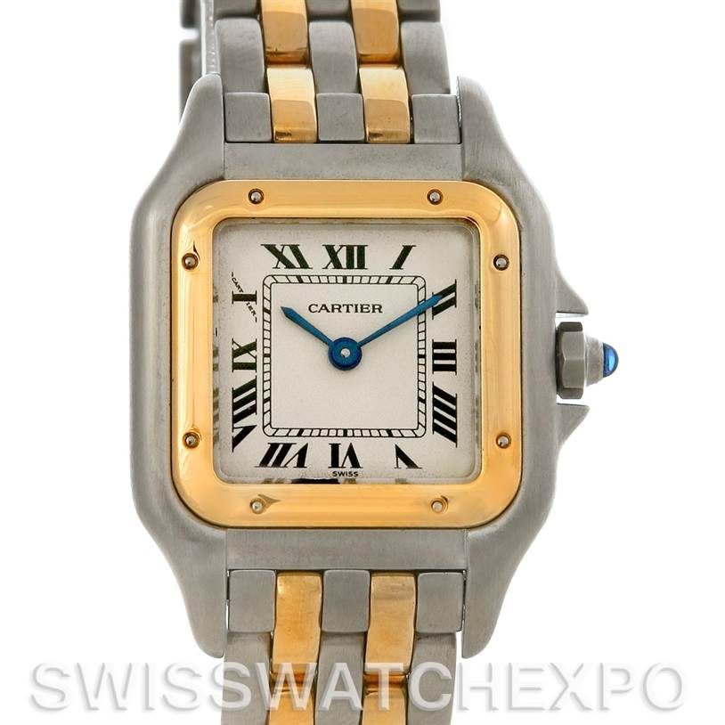 4205 Cartier Panthere Ladies Small Steel and 18K Yellow Gold Watch W25029B6 SwissWatchExpo