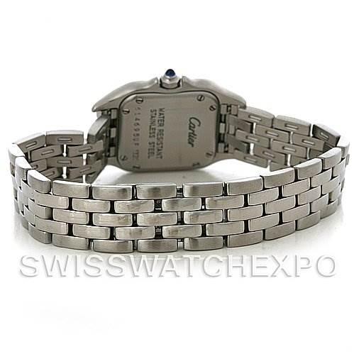 4206 Cartier Panthere Ladies Small Stainless Steel Watch W25033P5 SwissWatchExpo