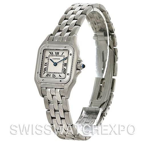 4207 Cartier Panthere Ladies Small Stainless Steel Watch W25033P5 SwissWatchExpo