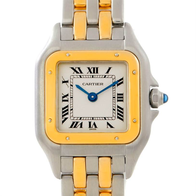 4416 Cartier Panthere Ladies Small Steel and 18K Yellow Gold Watch W25029B6 SwissWatchExpo