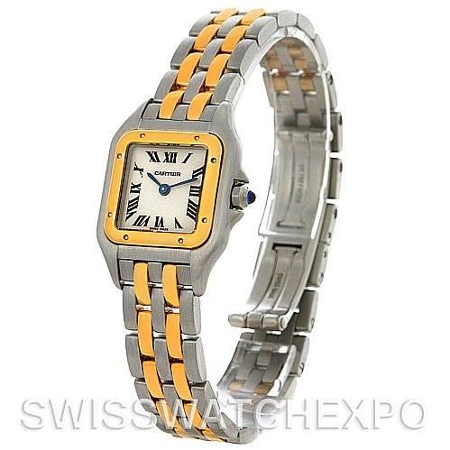4412 Cartier Panthere Ladies Small Steel and 18K Yellow Gold Watch W25029B6 SwissWatchExpo