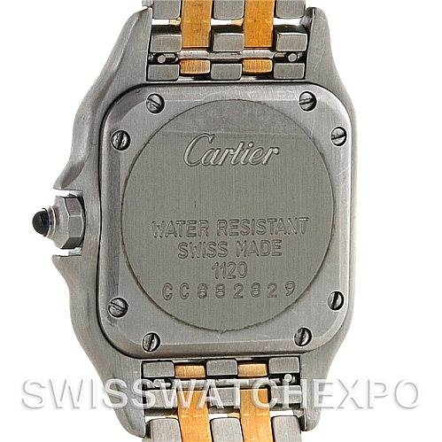 4570 Cartier Panthere Ladies Small Steel and 18K Yellow Gold Watch W25029B6 SwissWatchExpo