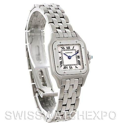 4508 Cartier Panthere Ladies Small Stainless Steel Watch W25033P5 SwissWatchExpo