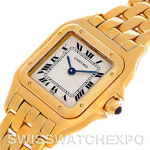 4627 Cartier Panthere Ladies 18k Yellow Gold Watch W25022B9 SwissWatchExpo