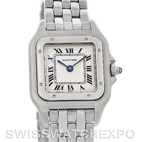2997 Cartier Panthere Ladies Small Stainless Steel Watch W25033P5 SwissWatchExpo