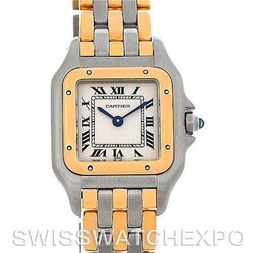 4654 Cartier Panthere Ladies Steel 18K Yellow Gold Watch W25029B6 SwissWatchExpo