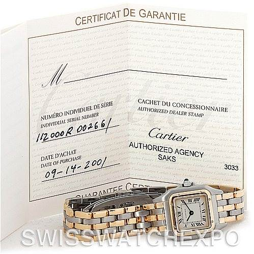 4777 Cartier Panthere Ladies Steel 18K Yellow Gold Watch W25029B6 SwissWatchExpo