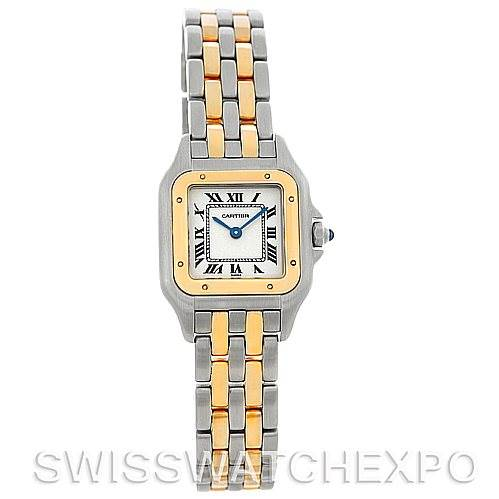 5087 Cartier Panthere Ladies Steel 18K Yellow Gold Watch W25029B6 SwissWatchExpo